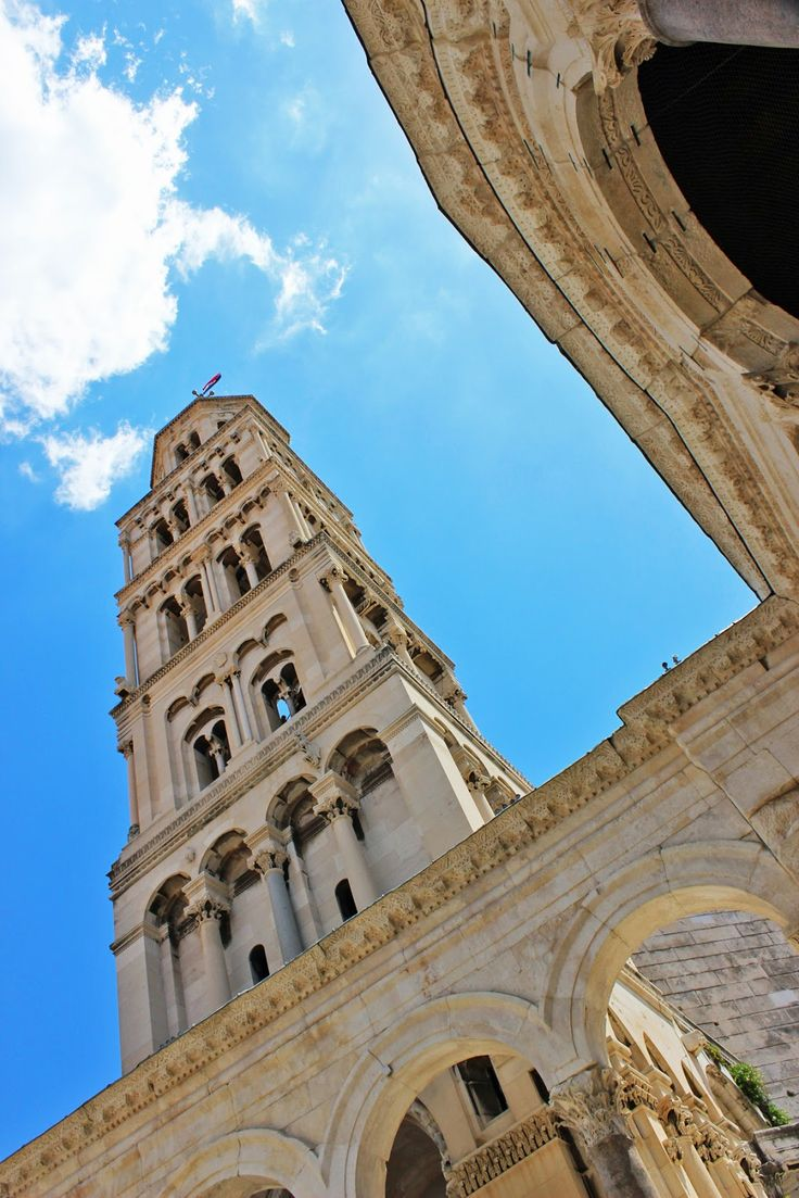 Split, Croatia  Diocletian Palace, Bell Tower of St Domnius, Cathedral of Saint Duje