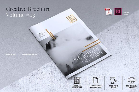 Creative Brochure Template Vol. 03 by misterRyArt™ on @creativemarket