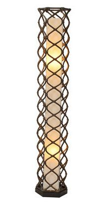 Aragon Rattan Floor Lamp...this would be so cool on our back deck or patio!