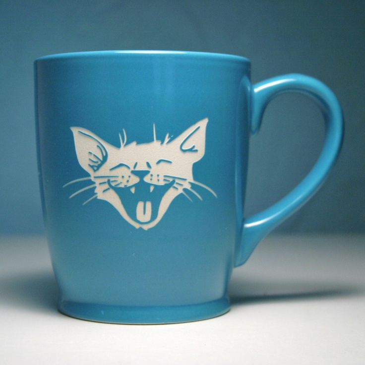 Laughing Cat Mug - how cute is this?!
