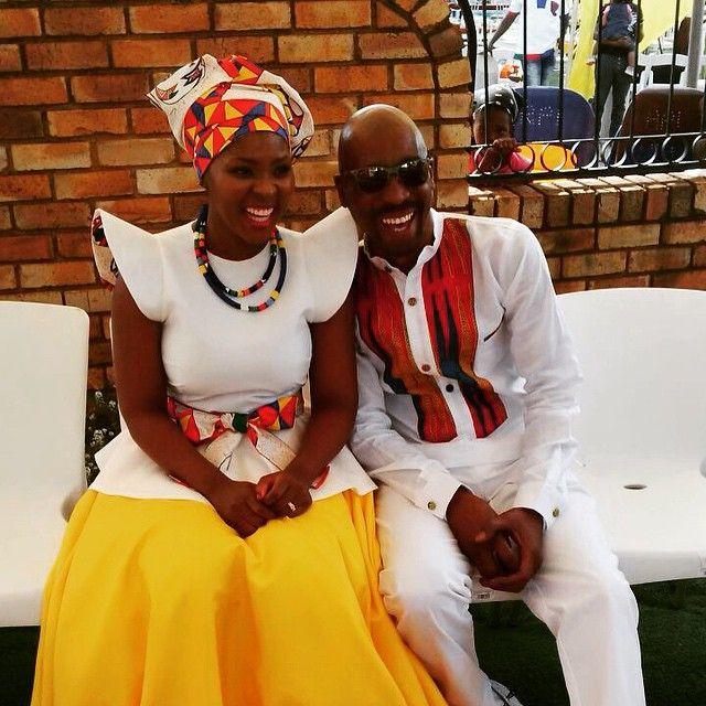 African prefer mixture of prints, especially for weddings. Radio Man Bob Mabena