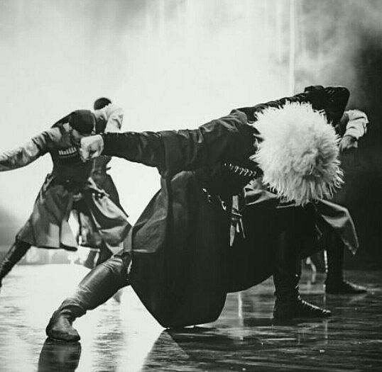 North Caucasus chechen men traditional dance chechens
