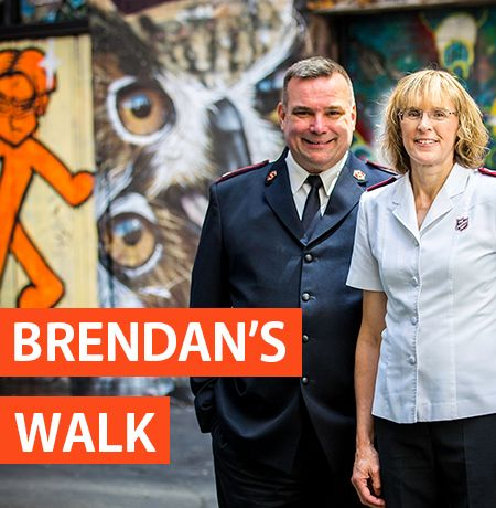 Brendan's Walk. On September 8 2017, Major Brendan Nottle began a 40 day journey, walking more than 700km from Melbourne to the front of Parliament House in Canberra. Visiting communities along the way, Brendan will hear first-hand about the challenges these communities face as they tackle the complex issues contributing to homelessness. Yesterday, Major Brendan Nottle completed his 703.3 km walk from Melbourne to Canberra, arriving at Parliament House.