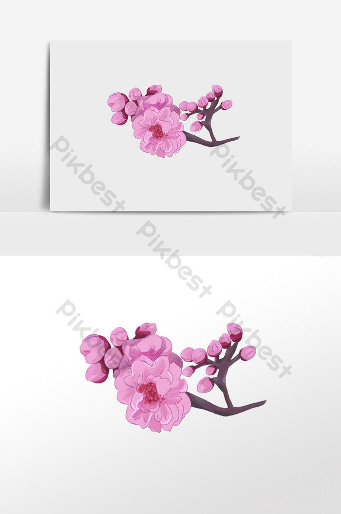 Pink Flower Buds Hand Painted Material Pikbest Illustration Elements