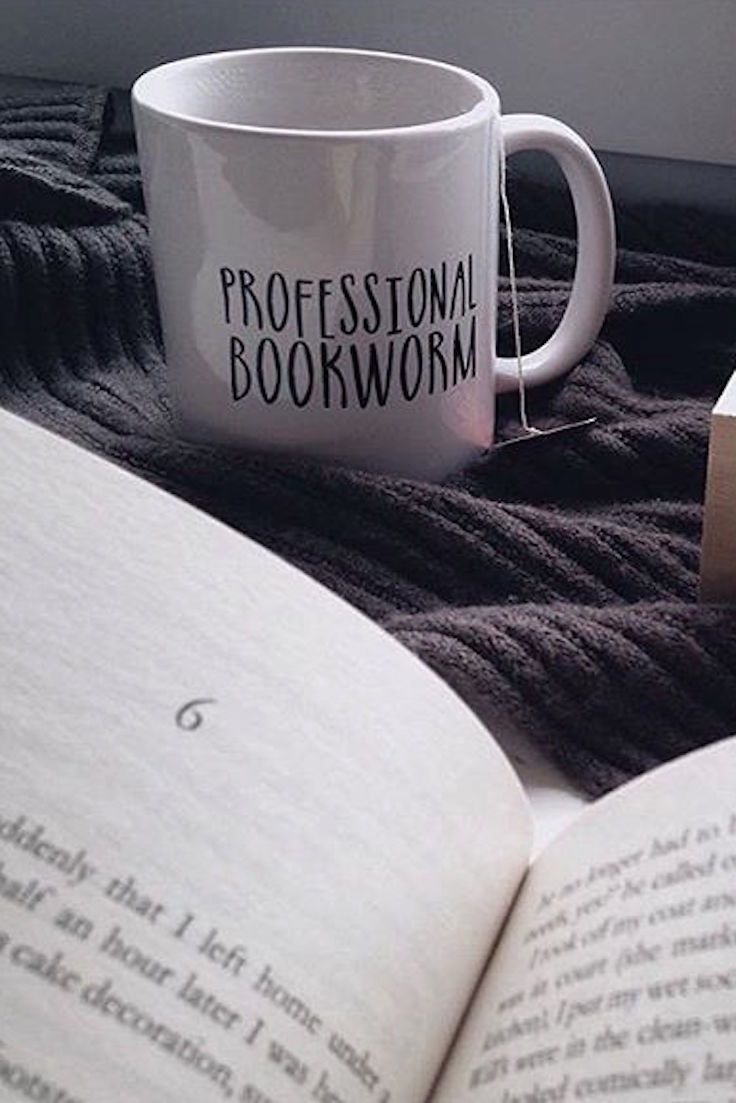 Professional Bookworm: put it on a mug and it's official! Love this design on t-shirts and throw pillows as well, it's the perfect companion for long afternoons spent reading. Get it from Bookworm Boutique's Redbubble shop.