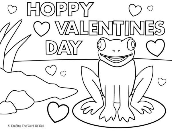 Hoppy Valentines Day (Coloring Page) Coloring Pages Are A Great Way To End  A Sunday School Lesson. They Can Serve As A Great Take Home Activity.