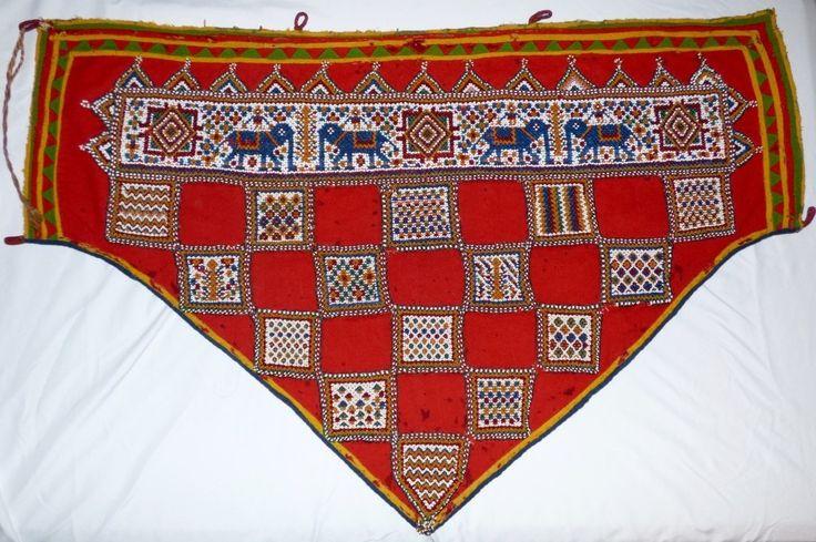 Antique Indian Beadwork Embellished Textile