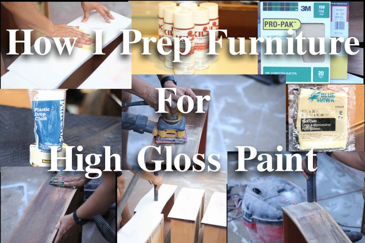 How I Prep Furniture for High Gloss Paint - The Resplendent Crow