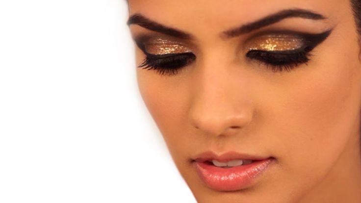 Makeup How To: Metallic Gold Cat Eye Makeup - Glamrs