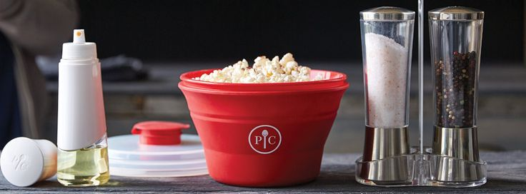 Pampered Chef has a new Microwave Popcorn maker!! So much healthier than microwave popcorn that is store-bought!!