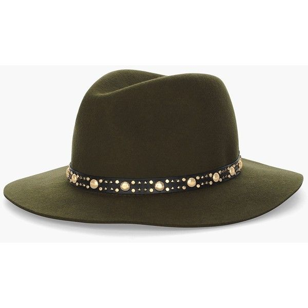 Chico's Fatigue Fedora (€42) ❤ liked on Polyvore featuring accessories, hats, fatigue, green fedora, green fedora hat, band hats, fedora hat and green hat