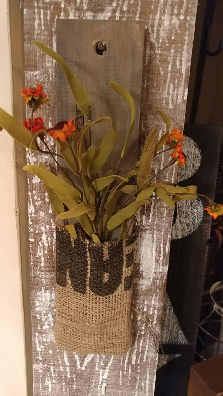 vintage Sign, wall decor, burlap bag, boho, farmhouse decor,potato sack, boho decor,French country, repurpose potato sack, by RusticCurbsideCharm on Etsy
