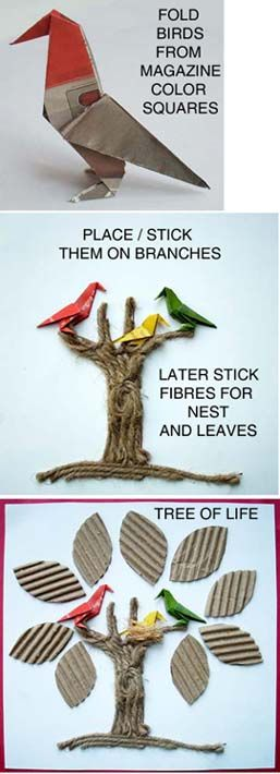 Tree of Life from trash: Libraries Ideas, Teaching Ideas, Classroom Ideas