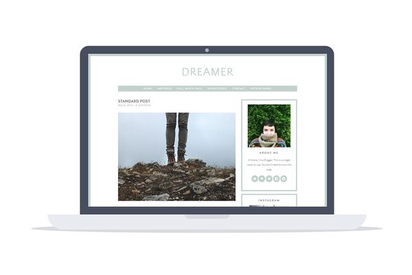 Dreamer - Premium Wordpress Theme by Hipster Theme on Creative Market