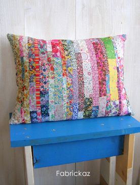 Use up leftover quilt fabric