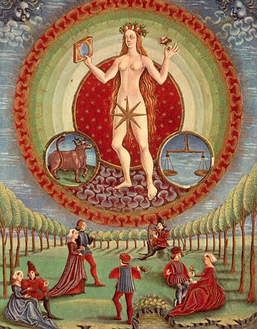 STAR GATES: ANCIENT PAINTING. WHAT IS THE MESSAGE?? SOMEONE IN A ROUND SHAPE VEHICLE FROM SKY LOOKING AT EARTH PEOPLE?? WHAT IS THE MESSAGE?? Venus. De Sphaera Biblioteca Estense Universitaria (Modena, Italy), 15th century. WHAT DO YOU SEE?? WHAT DO YU THINK?? WHAT DO WE KNOW??