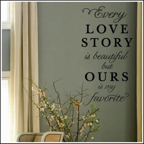 Every Love Story Wall Decal--$25