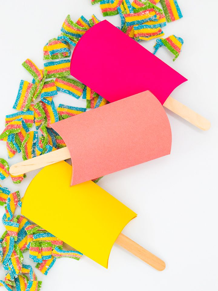 DIY Popsicle pillow boxes! #marthastewartcrafts #12monthsofmartha