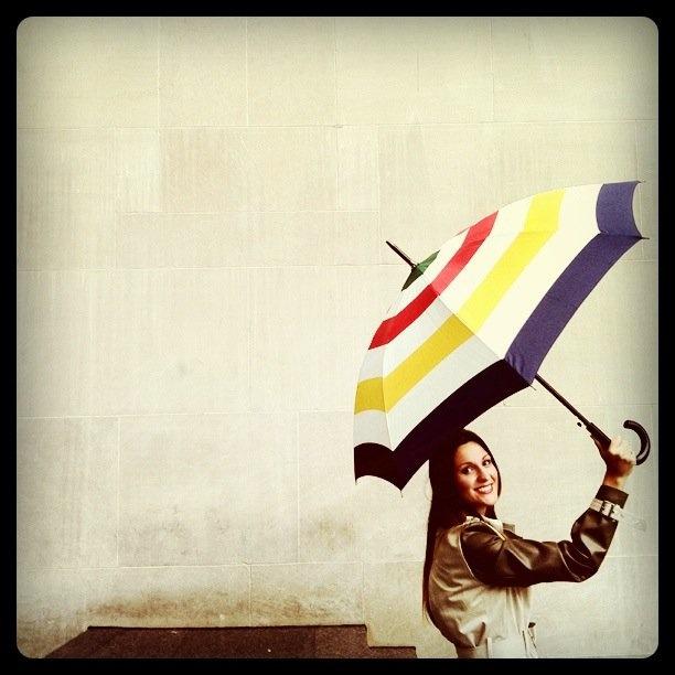 Hudson's Bay Umbrella | #StripeSpotting