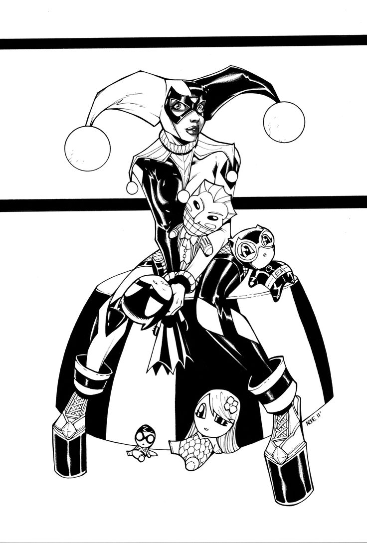 53 best Harley/Batman Coloring Pages images on Pinterest
