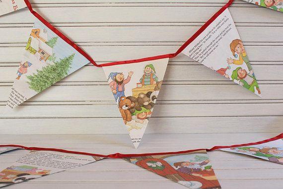 2.6m The Littlest Christmas Elf Golden Book Bunting