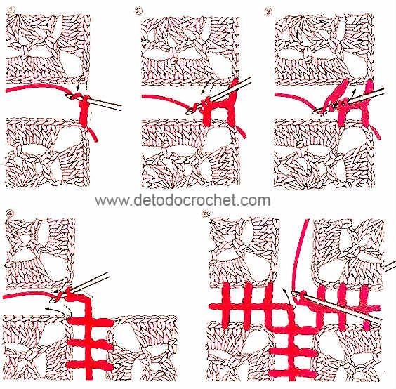 Cómo Tejer una Manta con Cuadros Crochet / DIY | Crochet y Dos agujas - Patrones de tejido