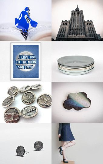 Moon is gray and blue by Buy ititaly on Etsy--Pinned with TreasuryPin.com