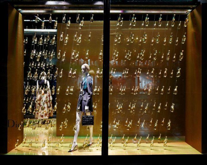 Dior visual merchandising at Harrods London