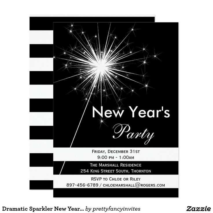 120 best Black & White New Year\'s Eve Party images on Pinterest ...