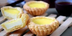 Chinese egg tarts  The flavor of Hong Kong egg tarts fresh from the oven is simply amazing. Having them right out of the oven is a  whole new experience against the lukewarm version you get from the store.   http://tasteasianfood.com/egg-tarts/  This recipe has been simplified without compromising the quality. I hope you will enjoy eating and baking this famous Hong Kong dim sum as much as I do.