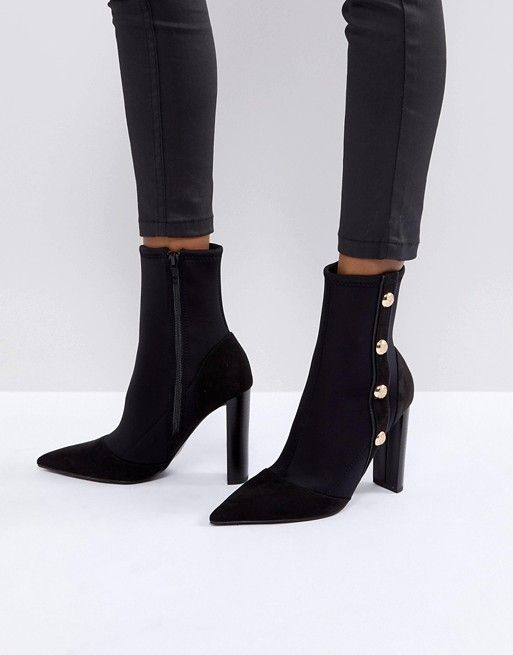 River Island Heeled Scuba Military Boot | under $100