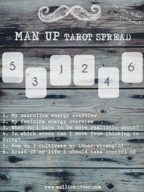 Man Up Tarot Spread (for both ladies and gentlemen)