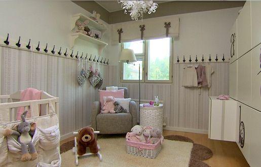 Maalaisromanttinen vauvanhuone #vauvanhuone #babyroom #baby #romanttinen #hempeä #maalaisromanttinen