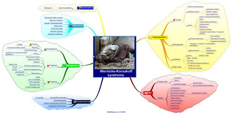 www.wernickikorsekoff | MBBS MADE EASY: Mind Map of Wernicke Korsakoff Syndrome