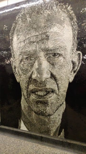 "Chuck Close.""Subway Portraits"". 86th Street station. NYC (Чак Клоуз. ""Портрети метро"". Станція метро ""86th Street"". Нью-Йорк)"
