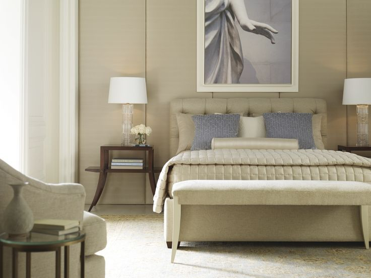 Classic Glam Neutral Bedroom Thomas Pheasant Paris Bed Beautiful Bedrooms Pinterest