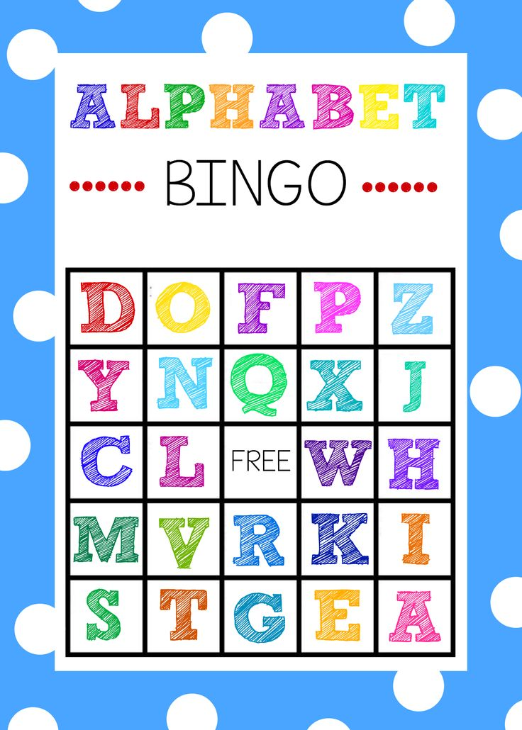 Free Alphabet Bingo Boards. Such a fun ABC game for kids!