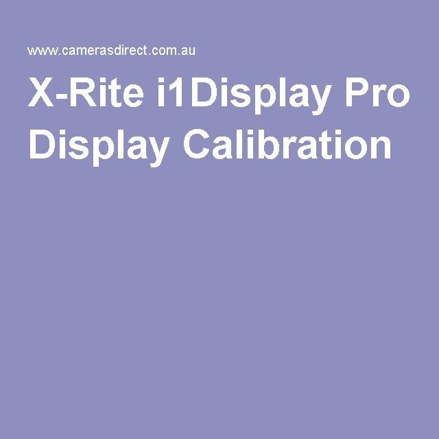X-Rite i1Display Pro Display Calibration
