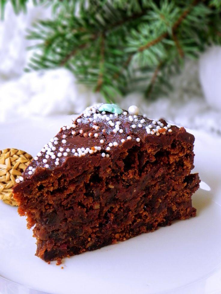 keks czekoladowy Nigelli Lawson, niebywale prosty keks czekoladowy,ciasto z suszonymi śliwkami,przepisy Nigelli,