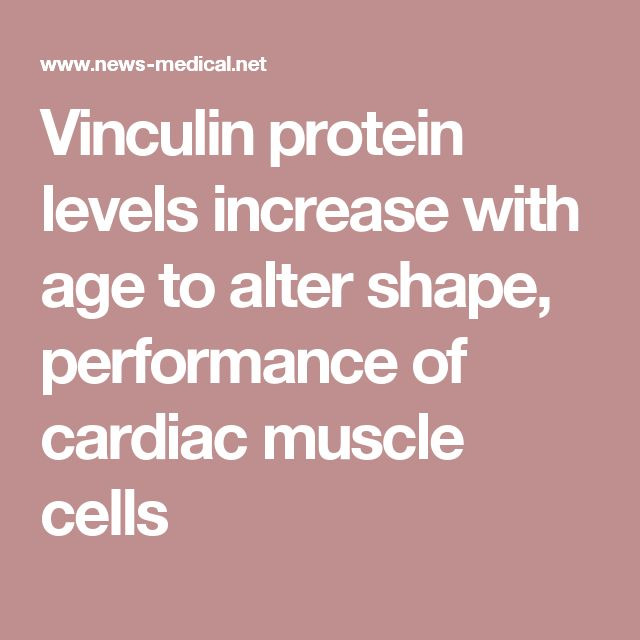 Vinculin needed for aging heart http://www.news-medical.net/news/20150618/Vinculin-protein-levels-increase-with-age-to-alter-shape-performance-of-cardiac-muscle-cells.aspx muscle cells