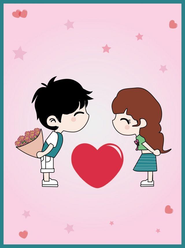Tanabata Cartoon Boy Girl Illustration Valentines Day Poster Love Boy And Girl Drawing Valentine Cartoon Cartoon Boy Love boy cartoon hd wallpaper