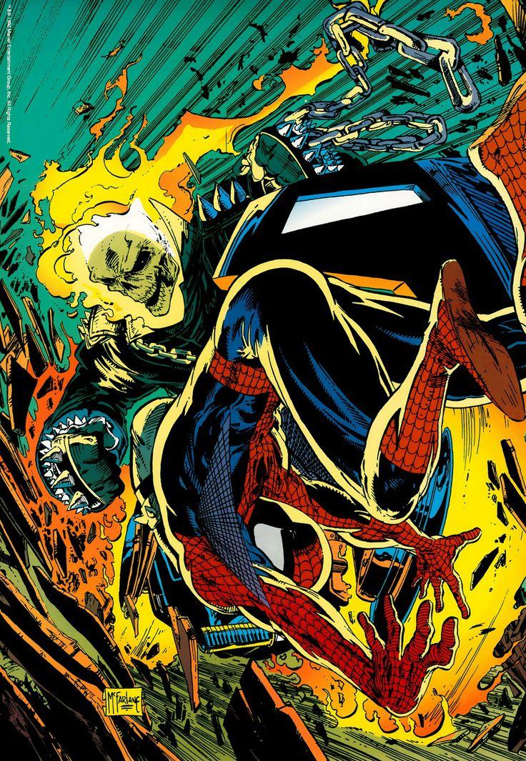 Spider-Man vs Ghost Rider by Todd McFarlane