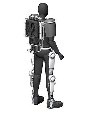 Das Exoskelett HAL ist für den Einsatz in Fukushima mit lebenshaltenden Systemen... (Bild: Cyberdyne)