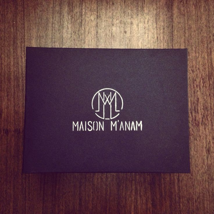 Maison M'anam little black box with hand printed logo