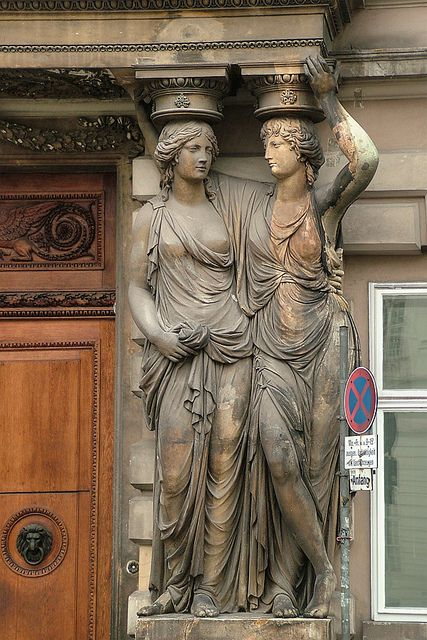 Caryatids, Palais Pallavicini, Vienna, Austria