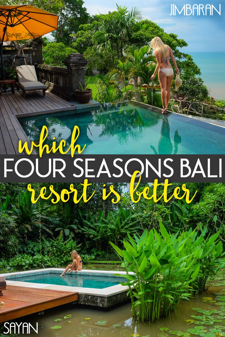 There are two Four Season Resorts in Bali—Jimbaran Bay and Sayan. I've been fortunate enough to stay with both, and experience the true luxury they offer, so here's the scoop on picking the best resort for your vacation in Bali. I've broken down the categories that I always look for in resorts, and I believe both of these properties offer the ultimate Four Seasons and Bali experience. Here's what I think about the Four Seasons Bali resorts!