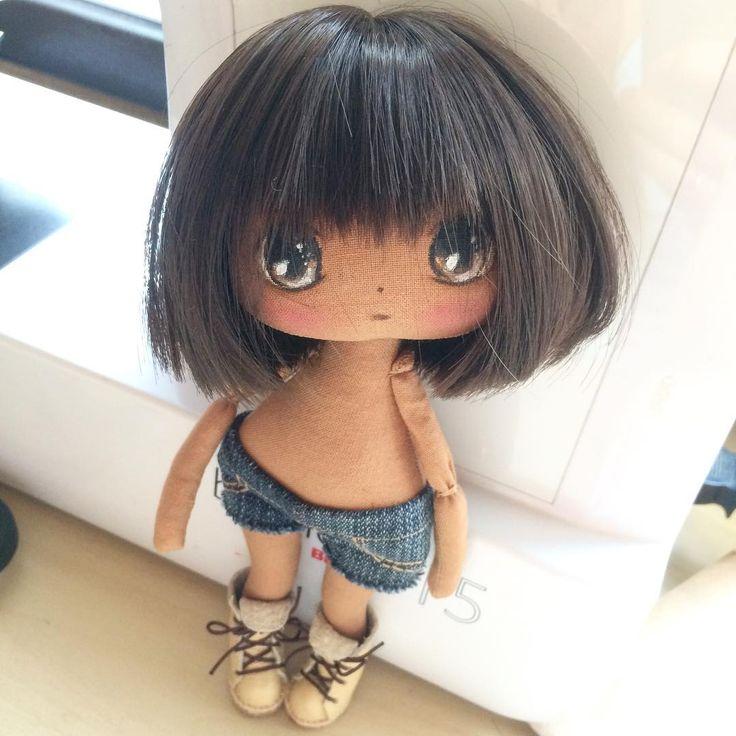 Сделала стрижку, вот такая будет мулатка😍 #куклаолли #олли #куколка #кукла #doll #artdoll