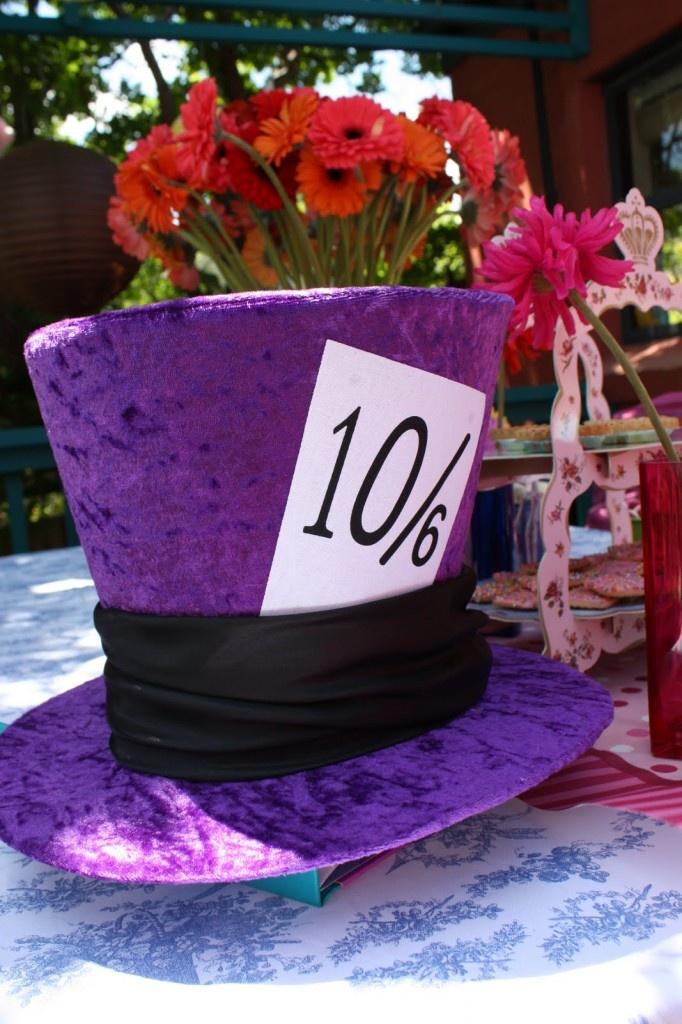 alice in wonderland decorations buy some crazy hats boas and rh pinterest com  alice in wonderland wedding centerpieces ideas