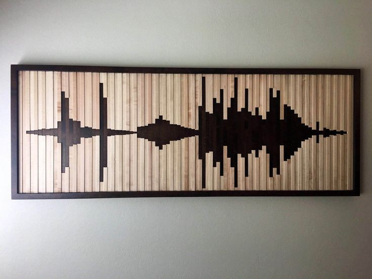 Abstract sound wave, wood wall art, wood wall, sound wave wall art by Woodartplanet on Etsy