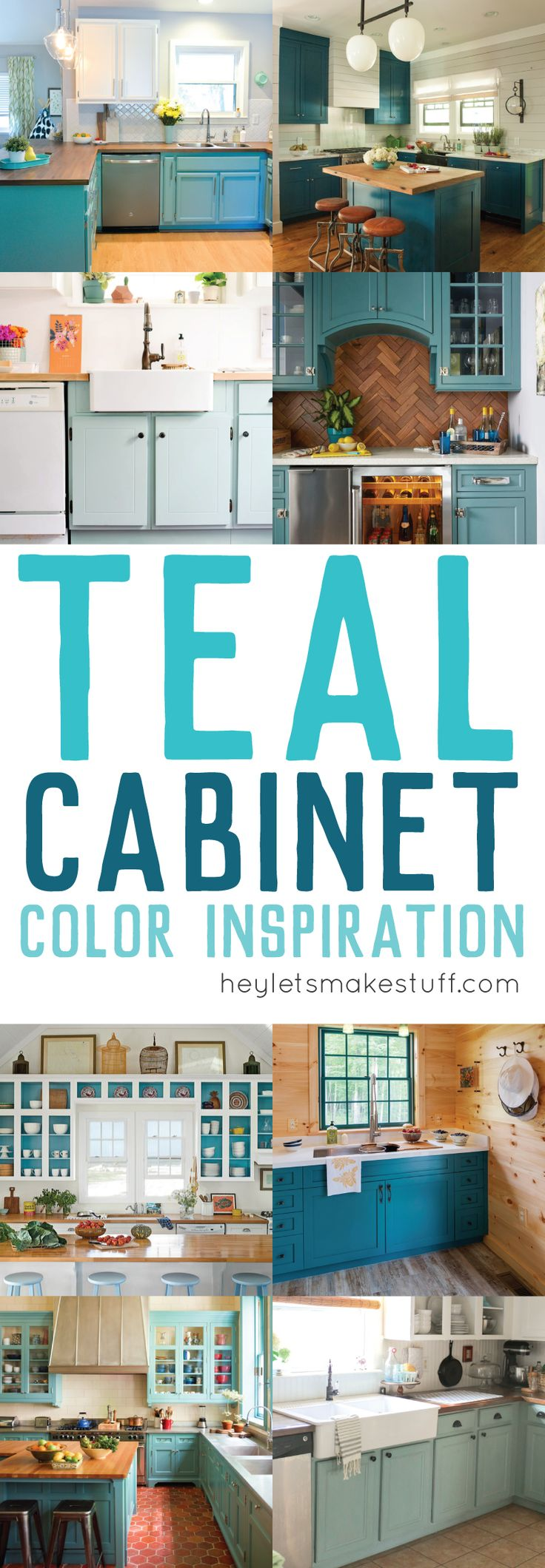 Take A Look At These Gorgeous Teal Kitchens. Painting Your Cabinets A Fun  Shade Of Part 84